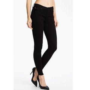Hudson Nico Mid Rise Super Skinny Black Jeans
